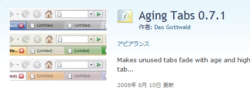 Aging Tabs