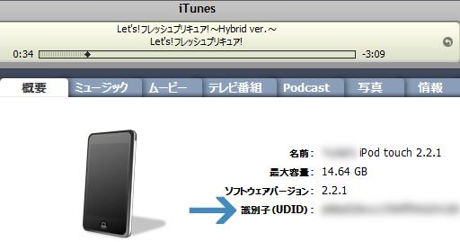 iTunes 画面