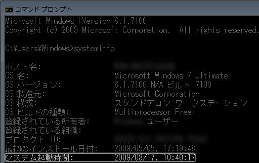 systeminfo 実行後(7)