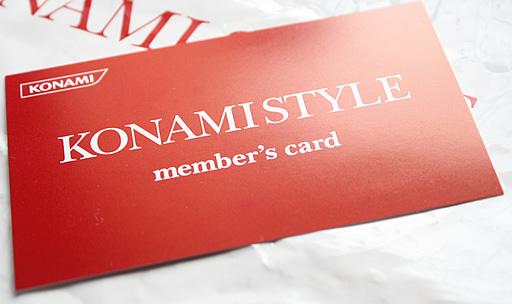 KONAMISTYLE member's card