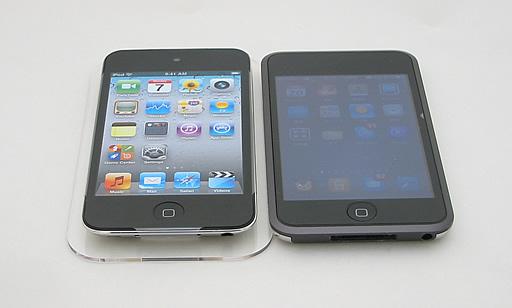 初代iPod touchと第4世代iPod touch