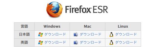 Firefox ESR