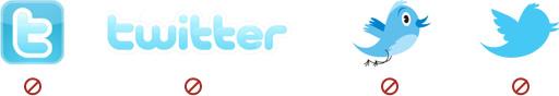 Twitter 使用禁止ロゴ