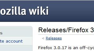 Firefox 3.5.7/3.0.17のスケジュールが変更、2010年1月にリリースへ