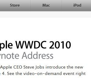 アップル、WWDC 2010のKeynoteを公開