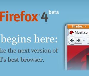 Firefox 4ベータ版リリース