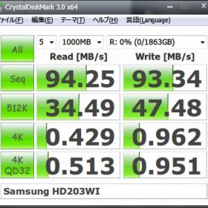 Core i7自作パソコン、2TB HDD「HD203WI」を増設