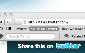 Twitterが「Share Bookmarklet」をリリース