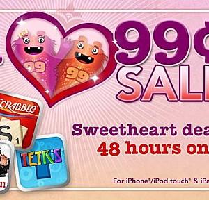 エレクトロニック・アーツが48時間限定でiPhone/iPod touch用ゲームの値下げを実施、25タイトルが一律115円に
