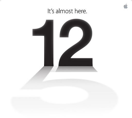 アップル「It's almost here」イベントを2012年9月12日に開催、iPhone 5の発表か