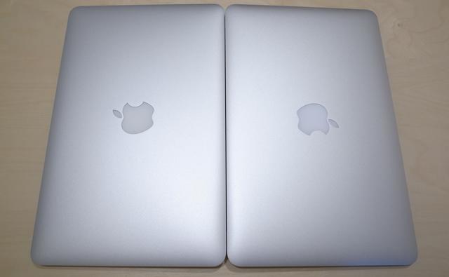 初期不良のMacBook Airと新しく届いたMacBook Air