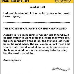 英単語は最初の1文字と最後の1文字が正しければ読解に支障はないというトリビア