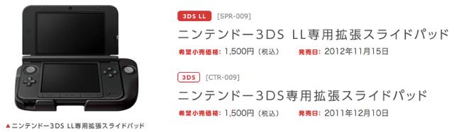 ニンテンドー3DS LL 専用拡張スライドパッド