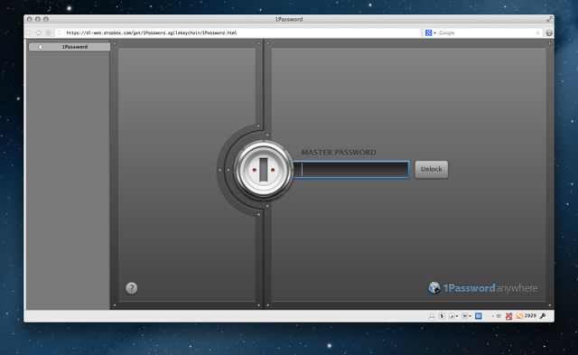 1Password anywhere